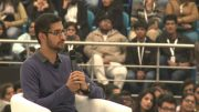 Google CEO Sundar Pichai, live in conversation at Delhi University
